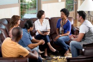 Small group counseling session